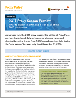2017 Proxy Season Review