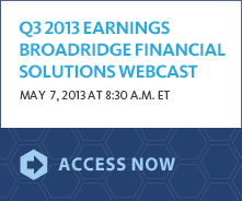 Q3 2013 Earnings Release banner