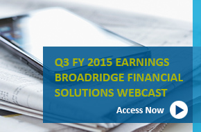 Q3 2015 Earnings Webcast banner