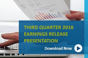 Q1 2016 Earnings Presentation banner