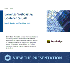 Earnings   Webcast & Conference Call Presentation