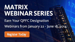 Matrix Webinar Series banner