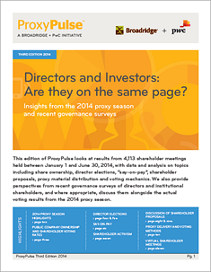Directors and investors: Are they on the same page?